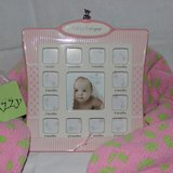 Baby's First Year Photo Frame - Girl